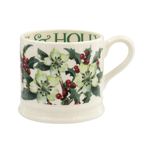 Small Mug Hellebores & Holly