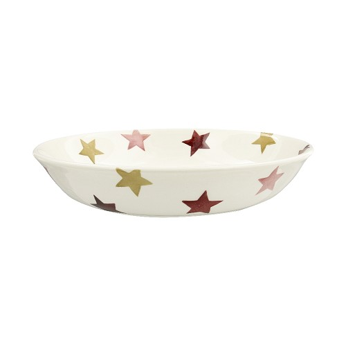 Small Pastabowl Pink & Gold Stars