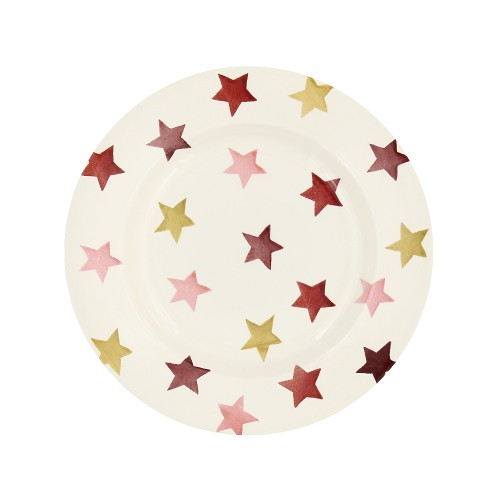 8½ Plate Pink & Gold Stars