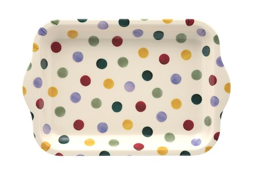Small Melamine Tray Polka Dots