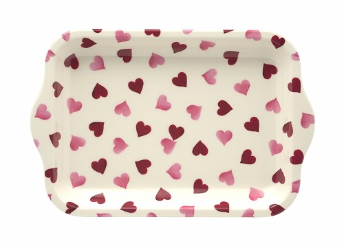 Small Melamine Tray Pink Hearts