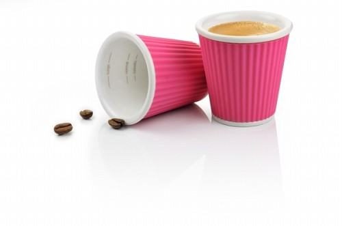 Set of 2 Espresso Cups 10cl Pink