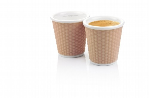 Set of 2 Honeycombs Espresso Cups 10cl Nutmeg