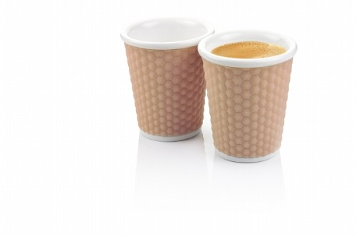 Honeycombs Coffee Cups 18cl Nutmeg