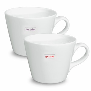 Bucket Mug Set of 2 bride groom